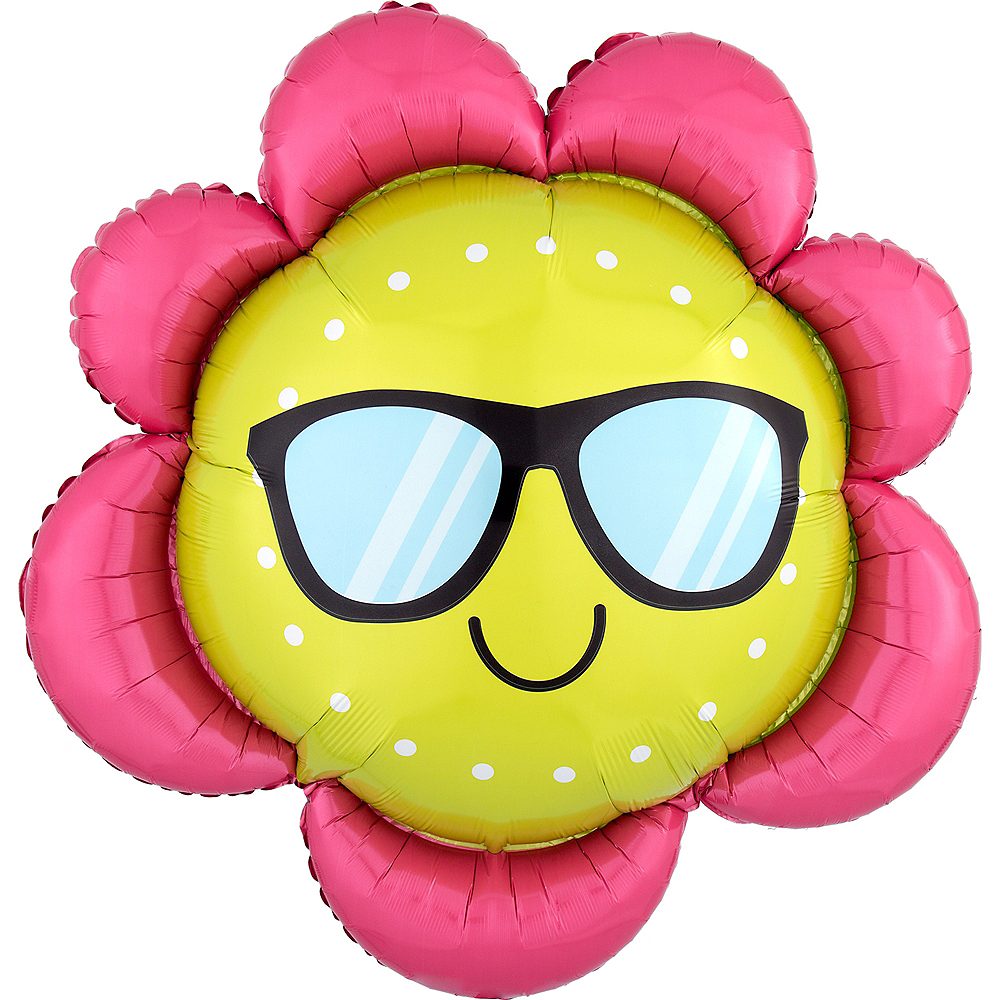 Sunglasses Flower Balloon, 27in Image #1