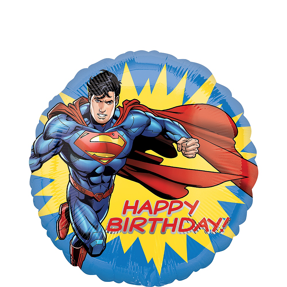 Classic Superman Birthday Balloon Image #1