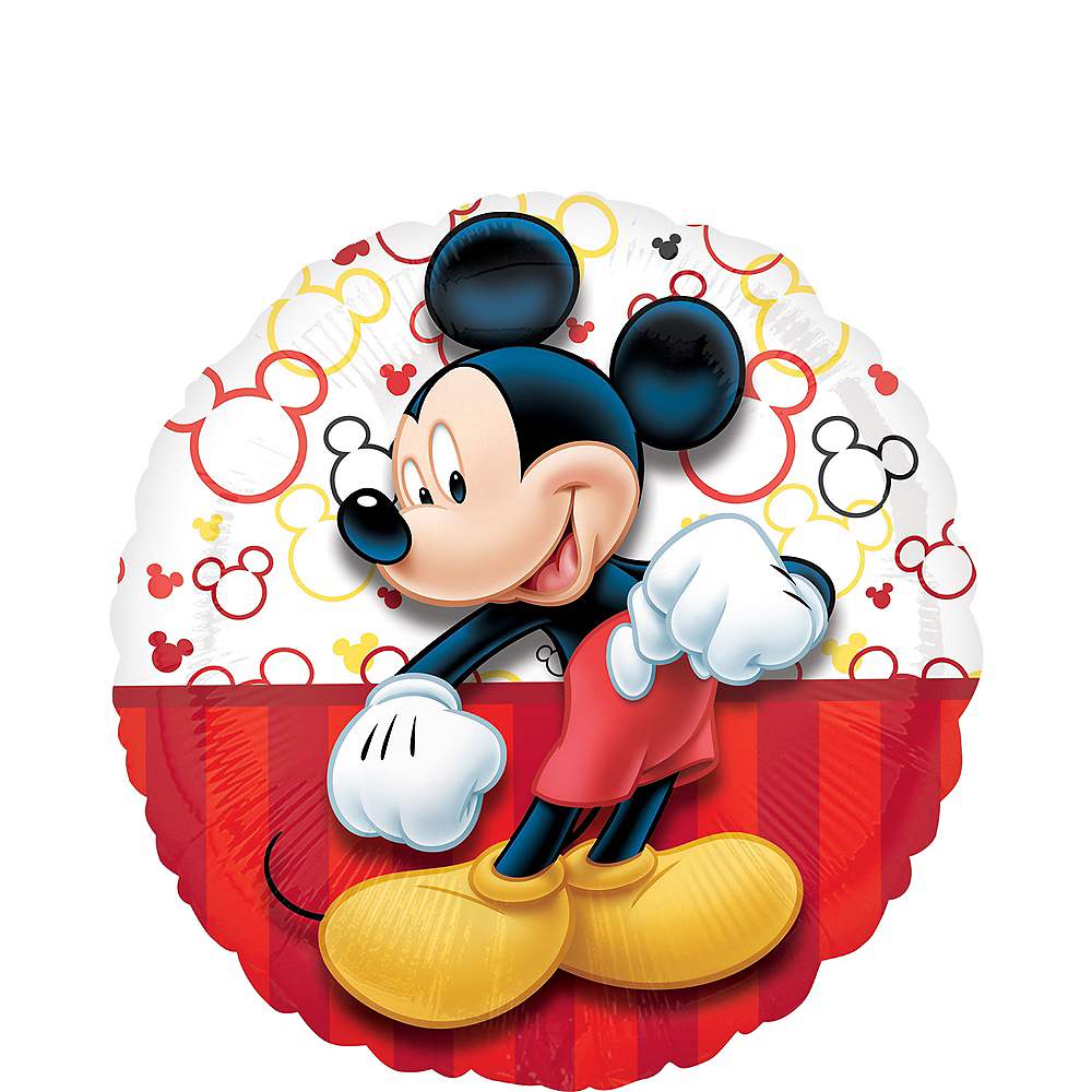 Black, Red & Yellow Mickey Mouse Balloon Image #1
