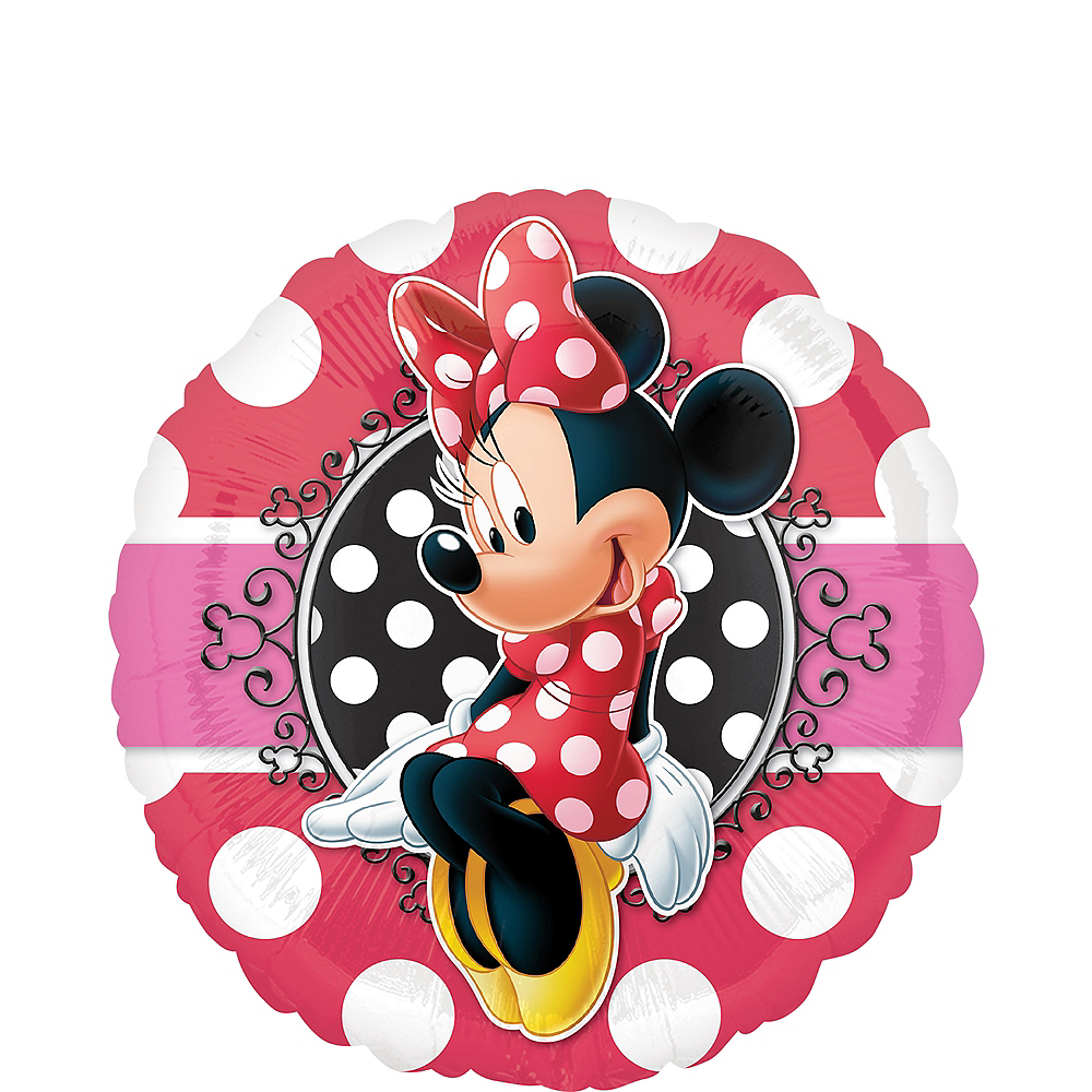 Polka Dot Minnie Mouse Balloon, 17in Image #1