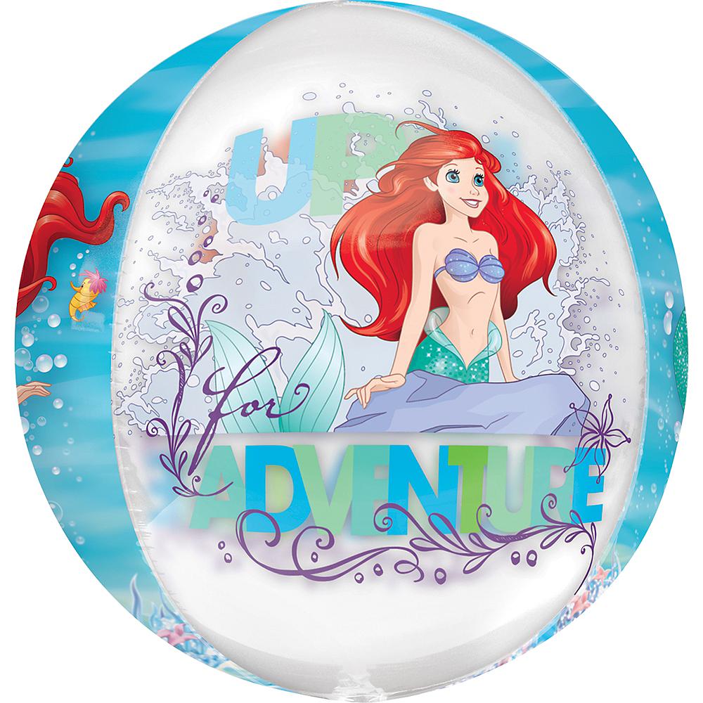 Little Mermaid Balloon - See Thru Orbz, 15in Image #2