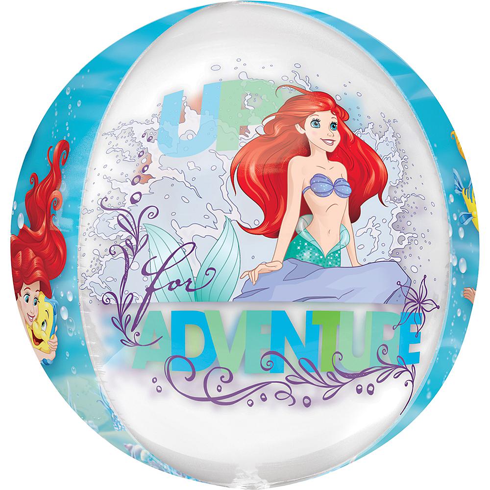 Little Mermaid Balloon - See Thru Orbz, 15in Image #4