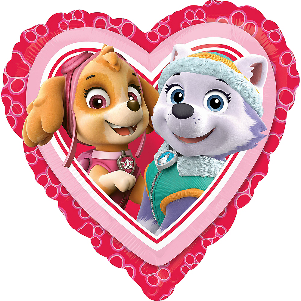 Nav Item for PAW Patrol Heart Balloon Image #1