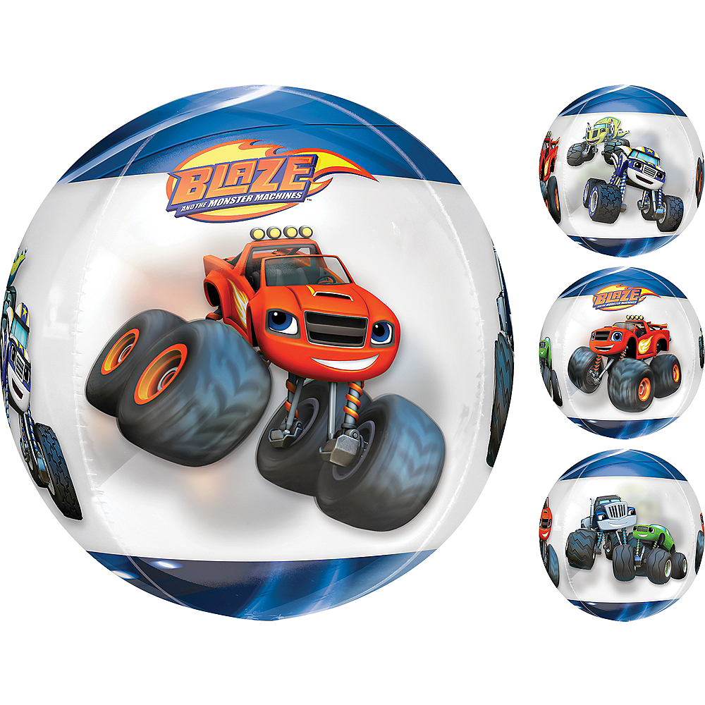 Blaze and the Monster Machines Balloon - See Thru Orbz Image #1