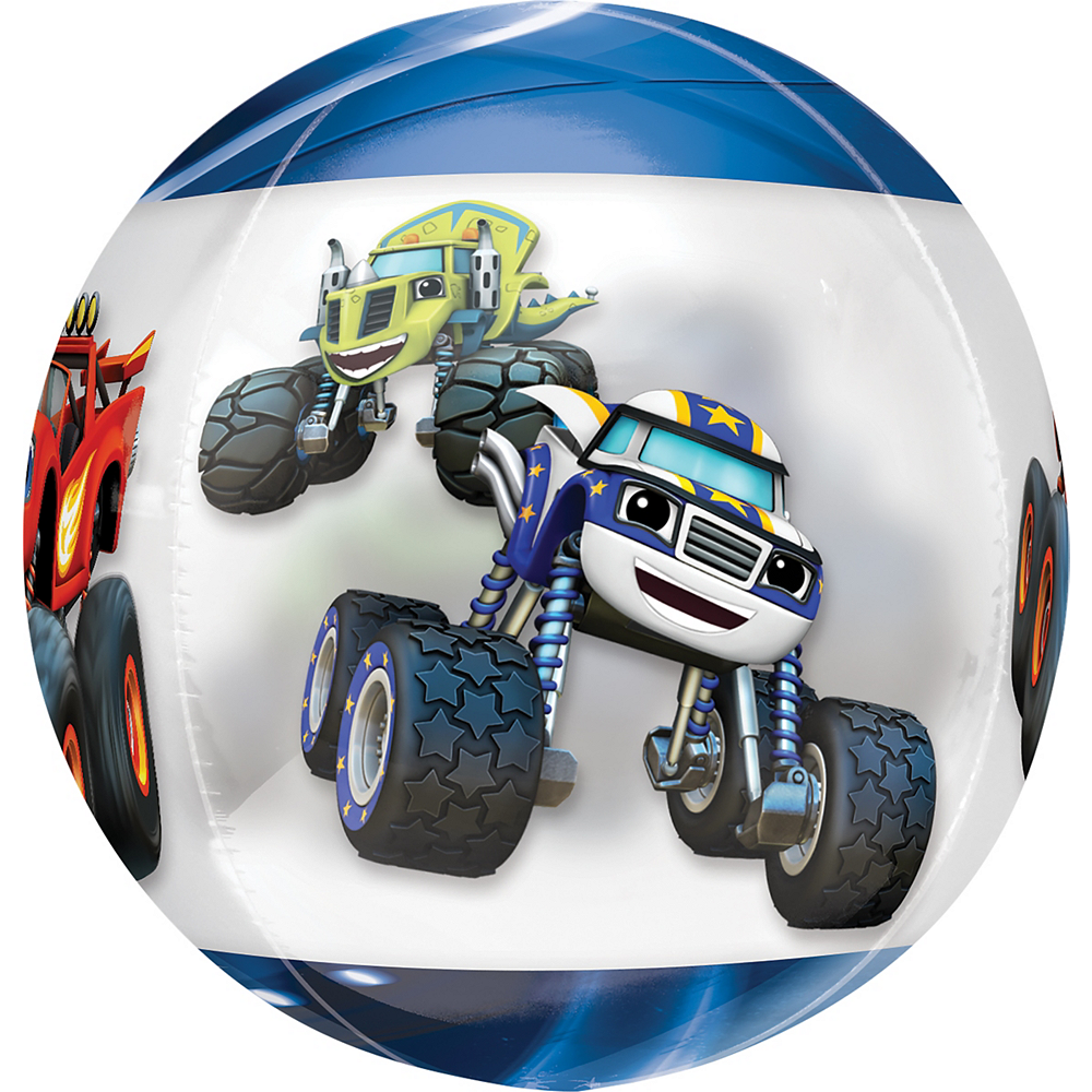 Blaze and the Monster Machines Balloon - See Thru Orbz Image #2