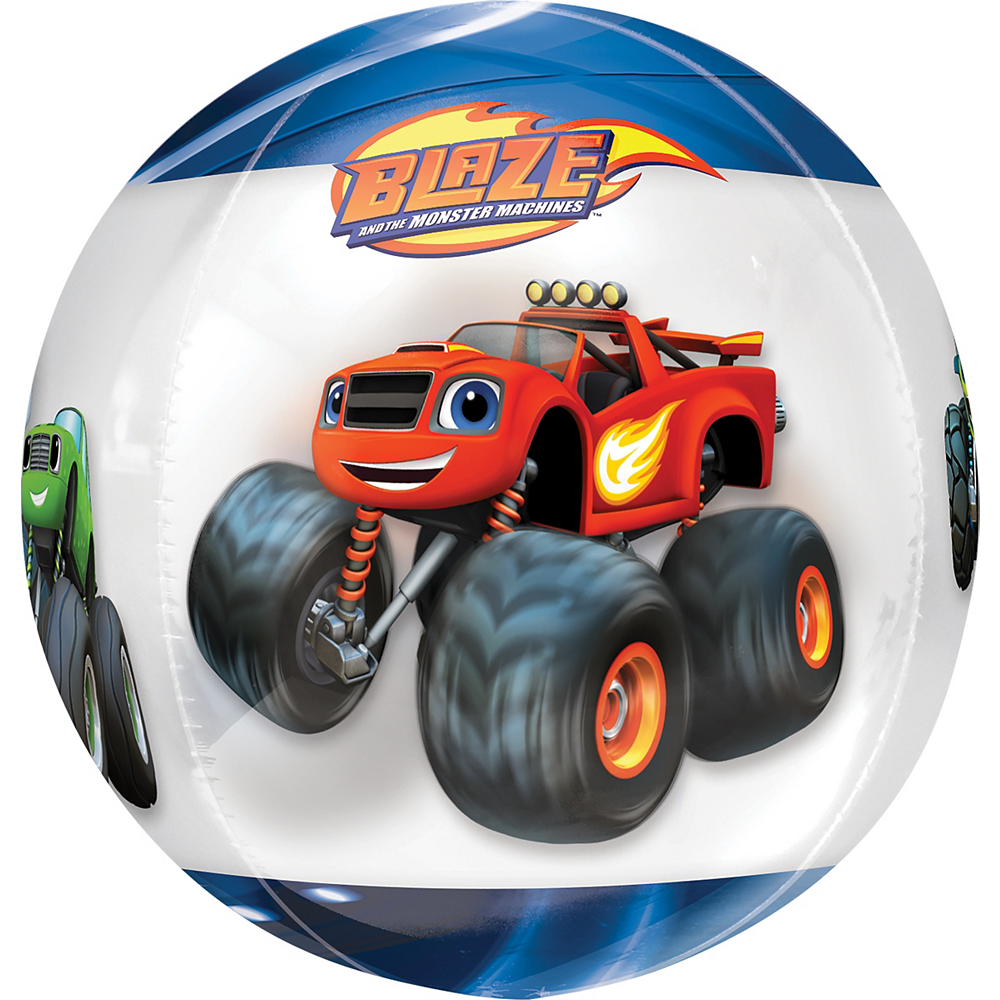 Blaze and the Monster Machines Balloon - See Thru Orbz Image #3