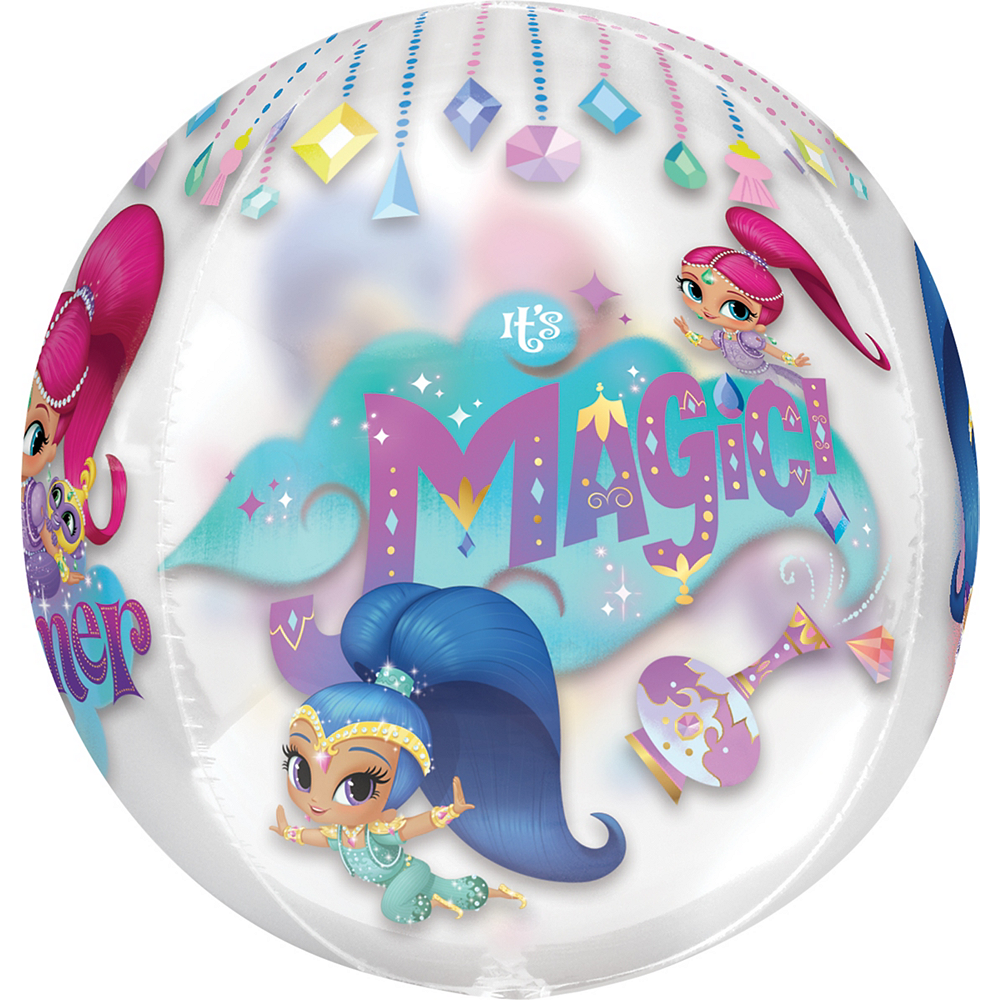 Shimmer and Shine Balloon - See Thru Orbz, 15in Image #3