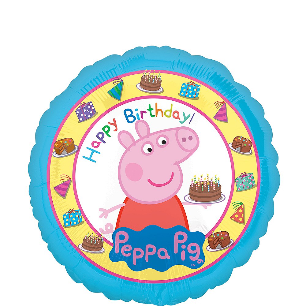 Peppa Pig Birthday Balloon Image 1