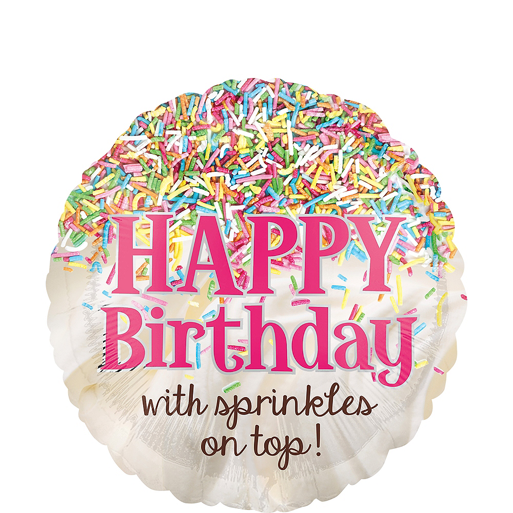 Sprinkles on Top Birthday Balloon, 17in Image #1