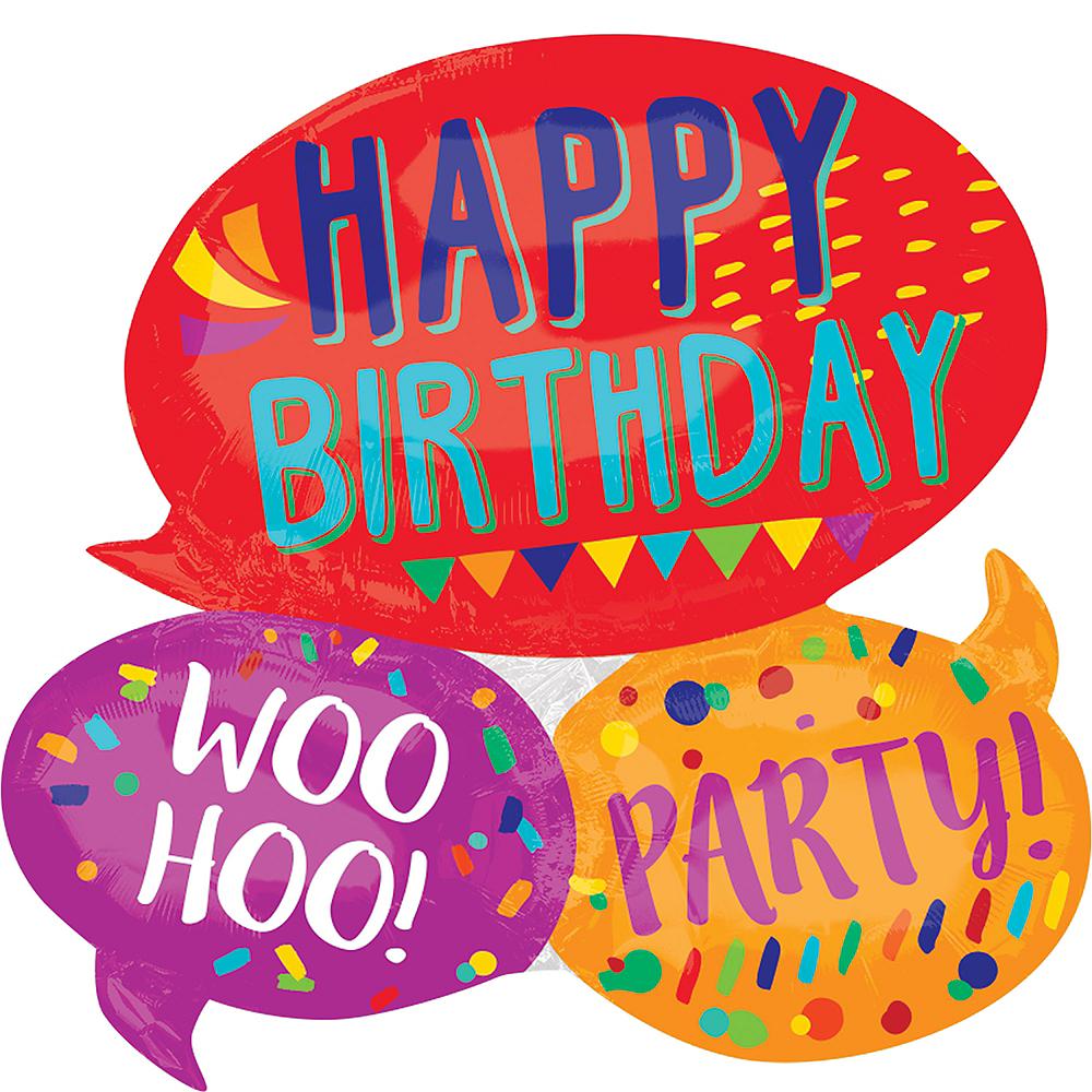 Speech Bubble Birthday Balloon, 26in Image #1