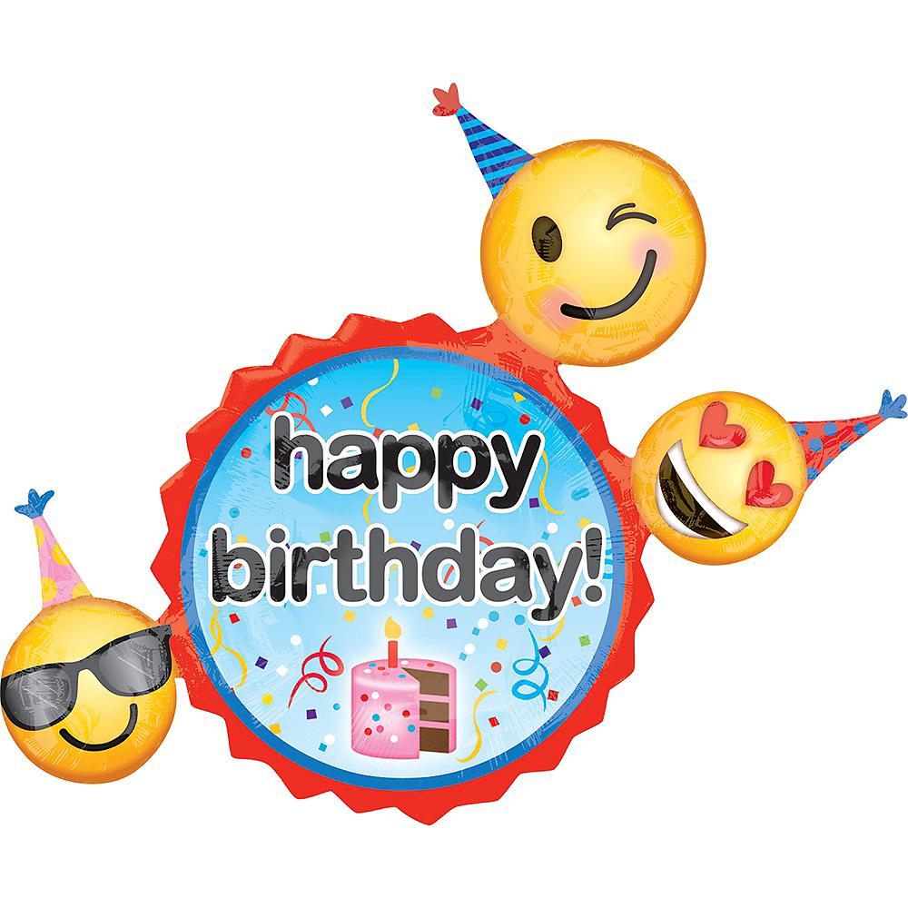 Giant Smiley Birthday Balloon, 36in Image #1