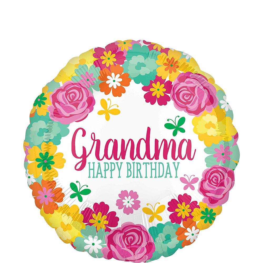 Floral Grandma Birthday Balloon Image #1