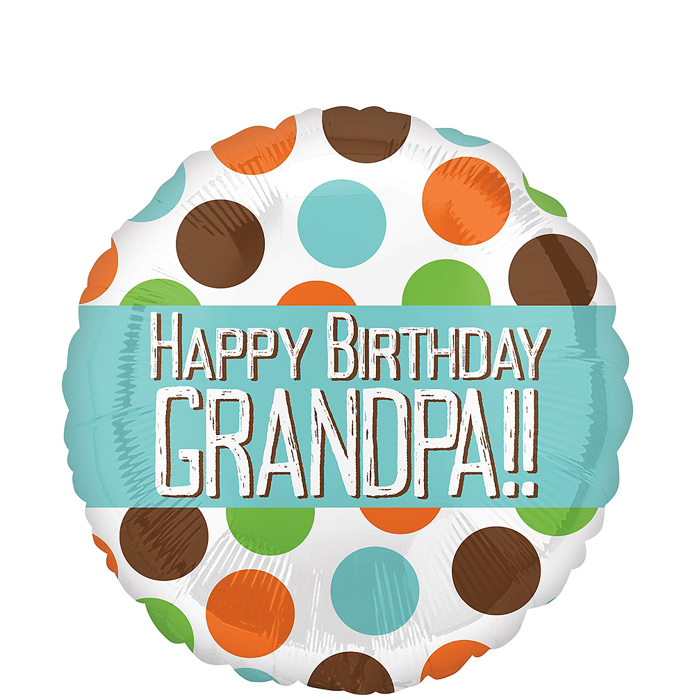 Polka Dots Grandpa Birthday Balloon Image #1