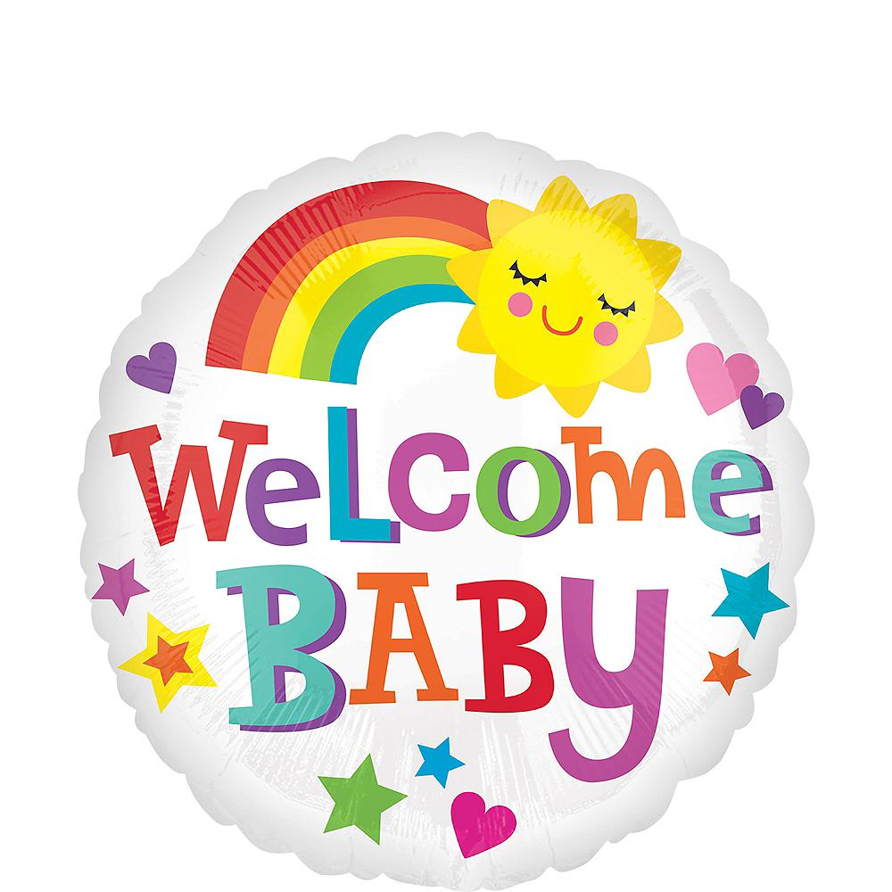 Sunshine & Rainbows Welcome Baby Balloon Image #1