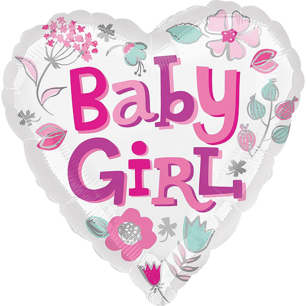 Baby Girl Heart Balloon Image #1
