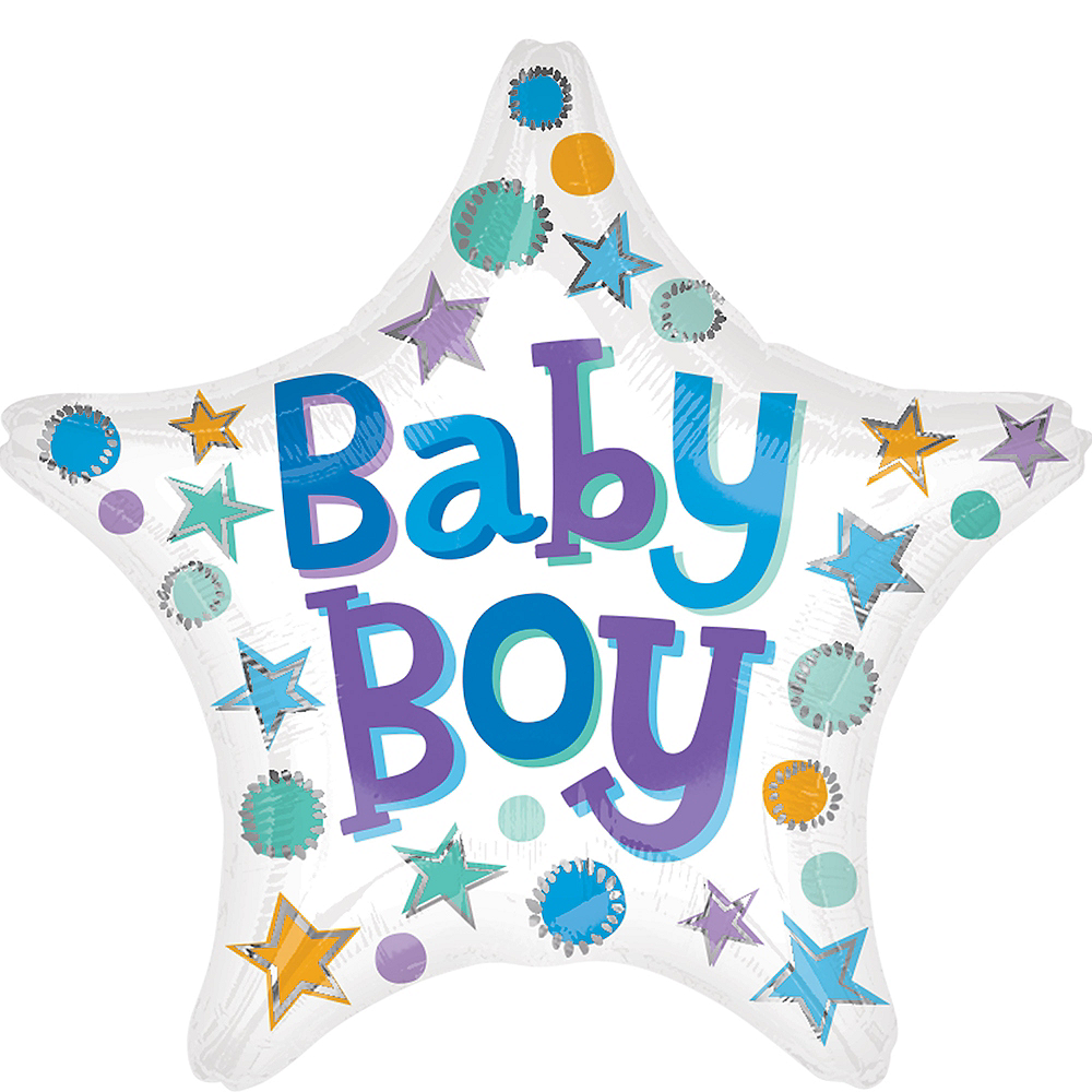 Baby Boy Star Balloon, 19in Image #1