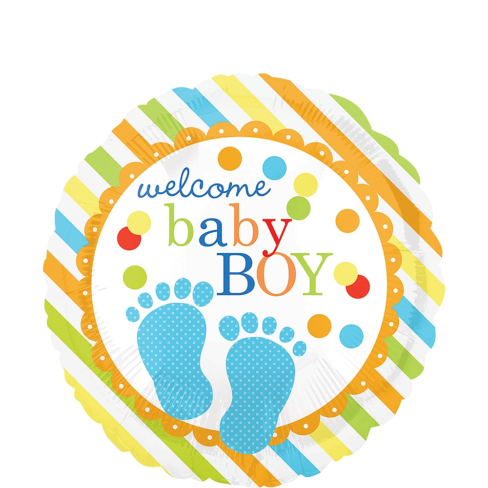 Colorful Welcome Baby Boy Balloon Image #1
