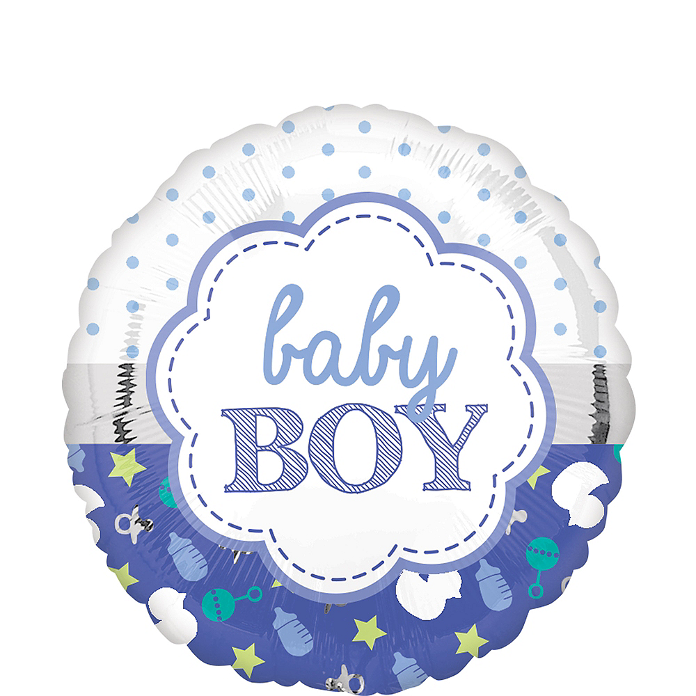 Purple Baby Boy Balloon Image #1