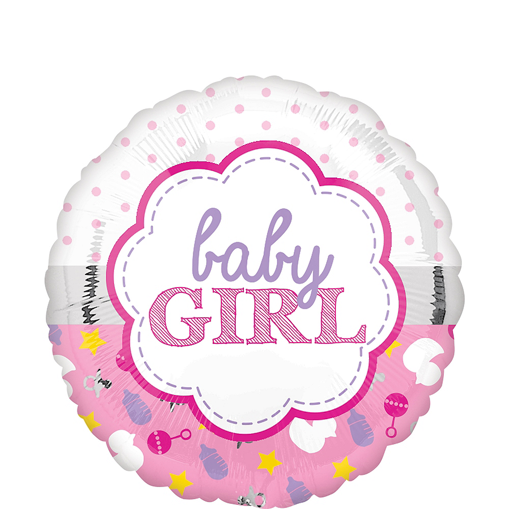 Pink Baby Girl Balloon Image #1