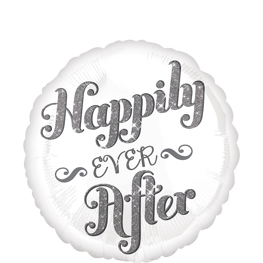 Happily Ever After Wedding Balloon Image #1
