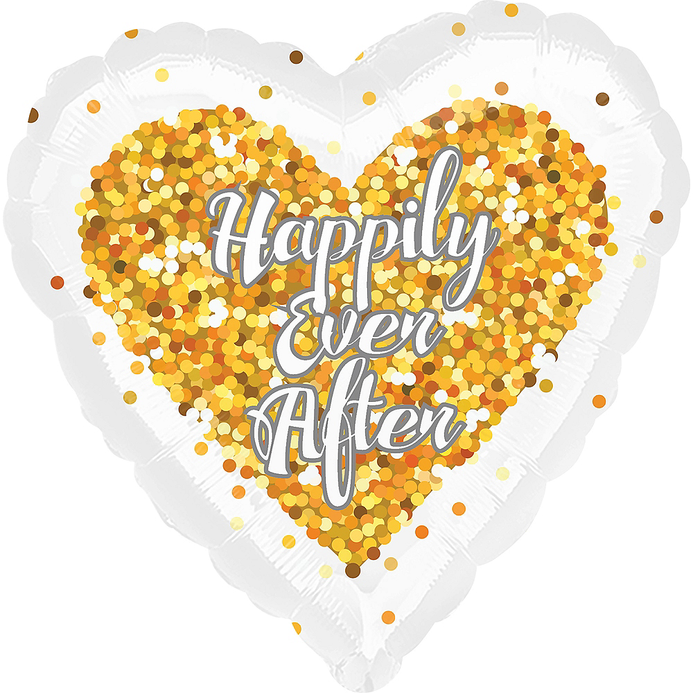 Happily Ever After Heart Balloon Image #1