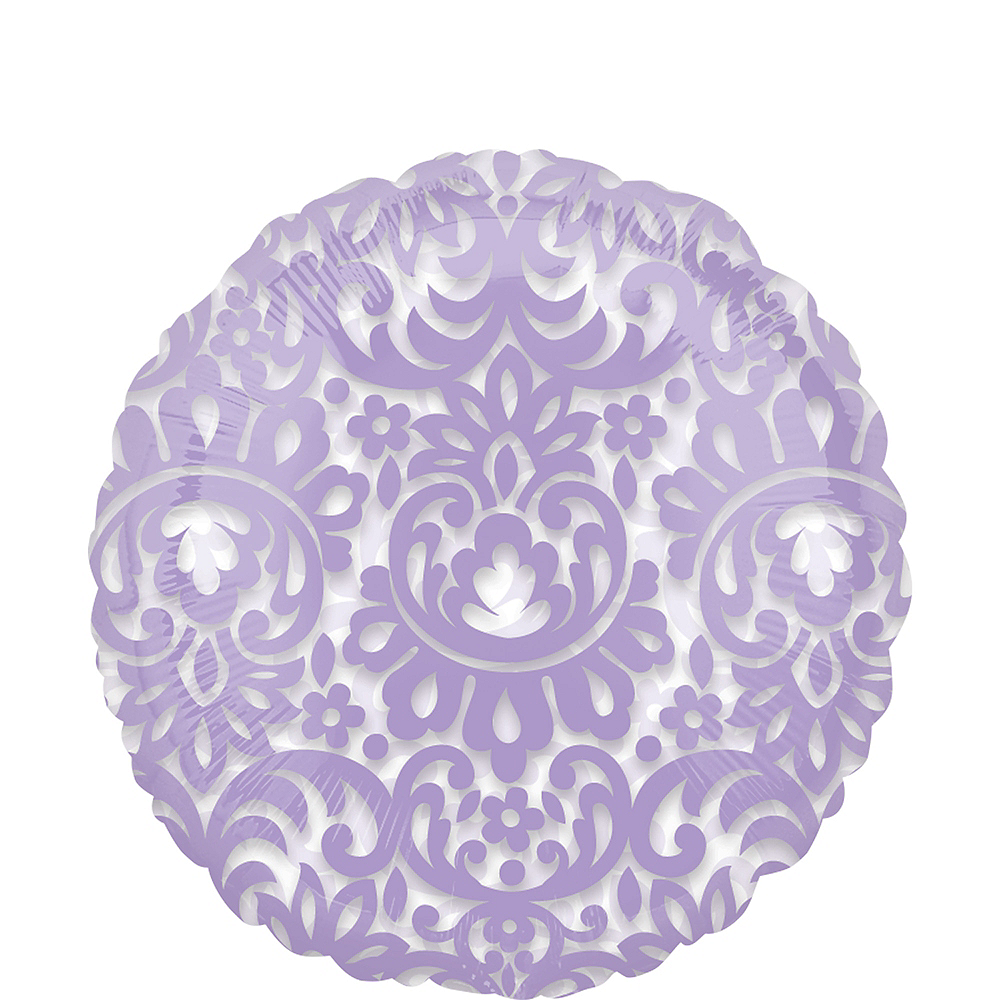 Lavender Filigree Balloon Image #1