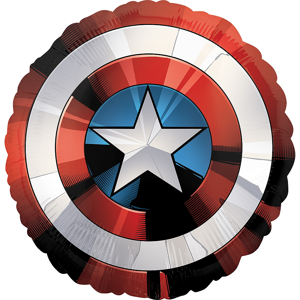 Giant Captain America Shield Balloon - Avengers, 28in Image #1