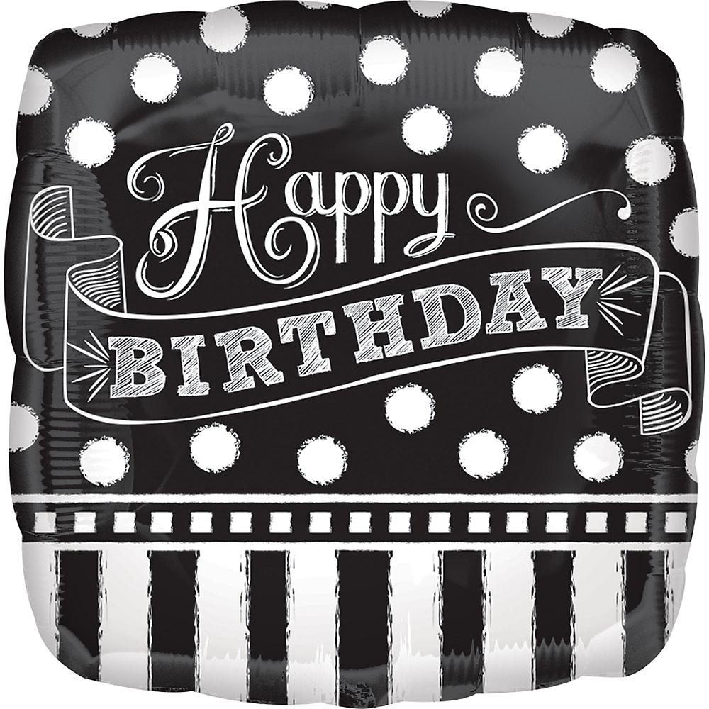 Chalkboard Dots Birthday Balloon Image #1