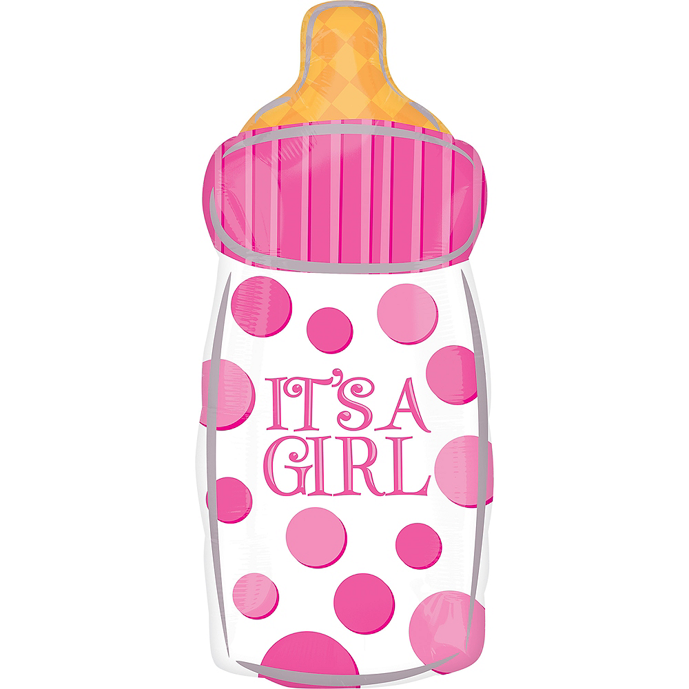 Pink Baby Bottle Balloon, 23in Image #1