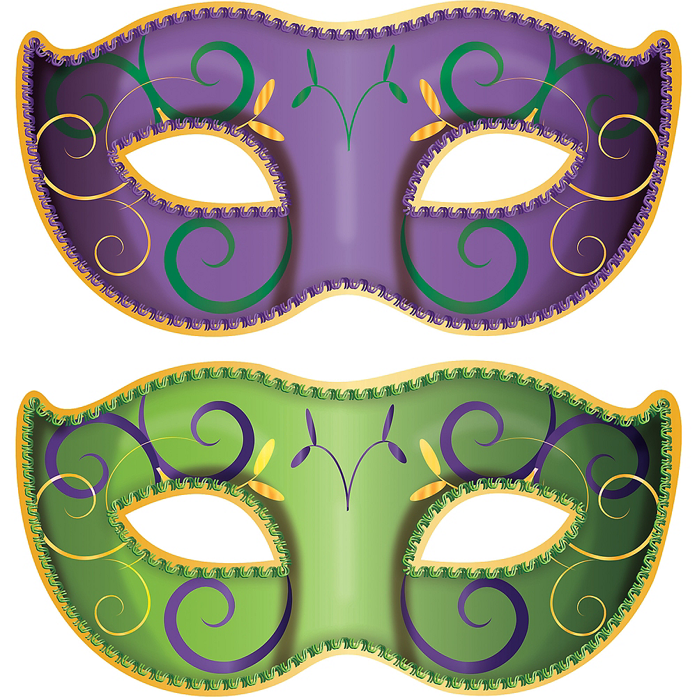 Nav Item for Masquerade Mask Mardi Gras Cutouts 2ct Image #1