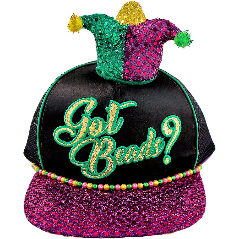 Got Beads Mardi Gras Trucker Hat Image #1