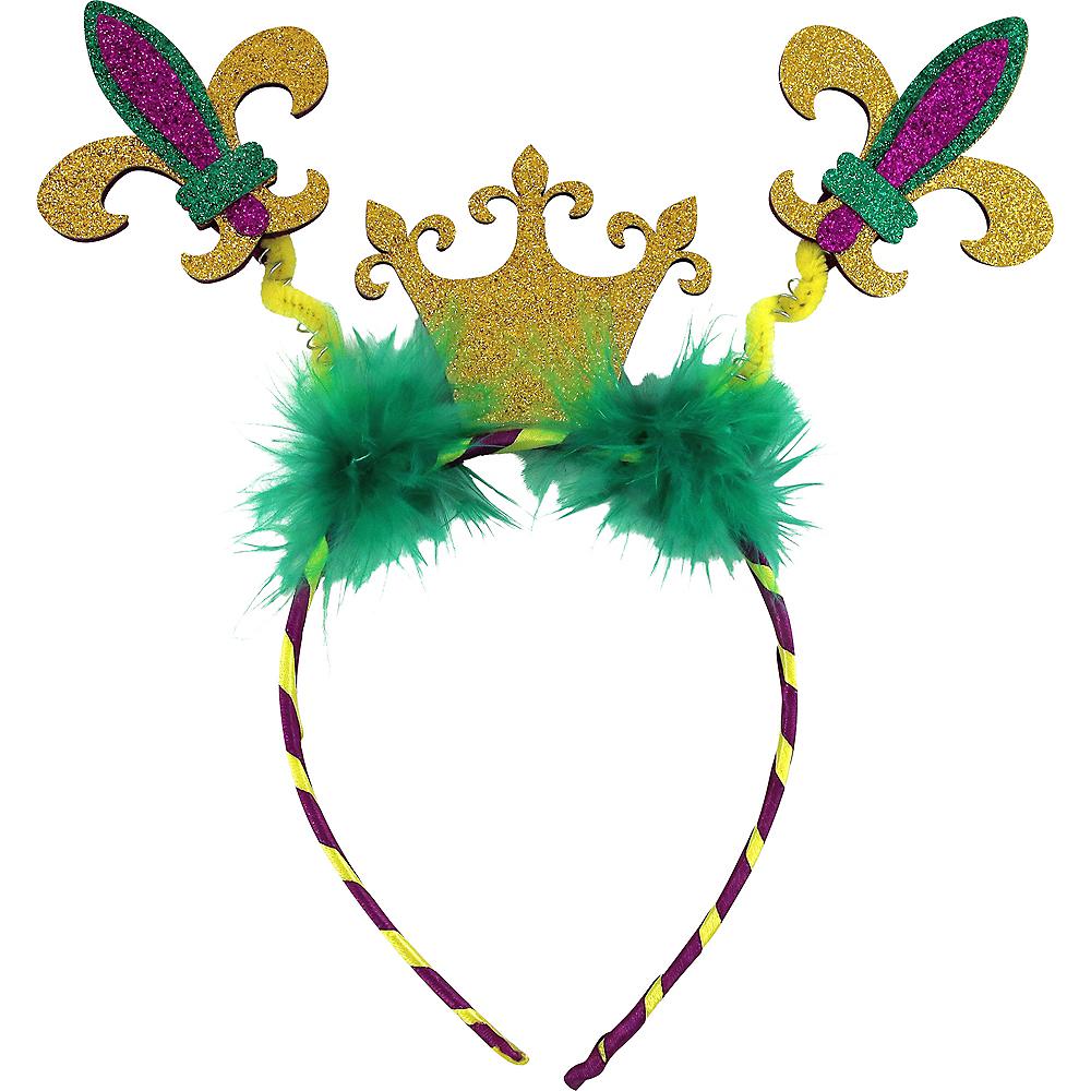 Crown & Fleur-de-Lis Mardi Gras Head Bopper Image #1