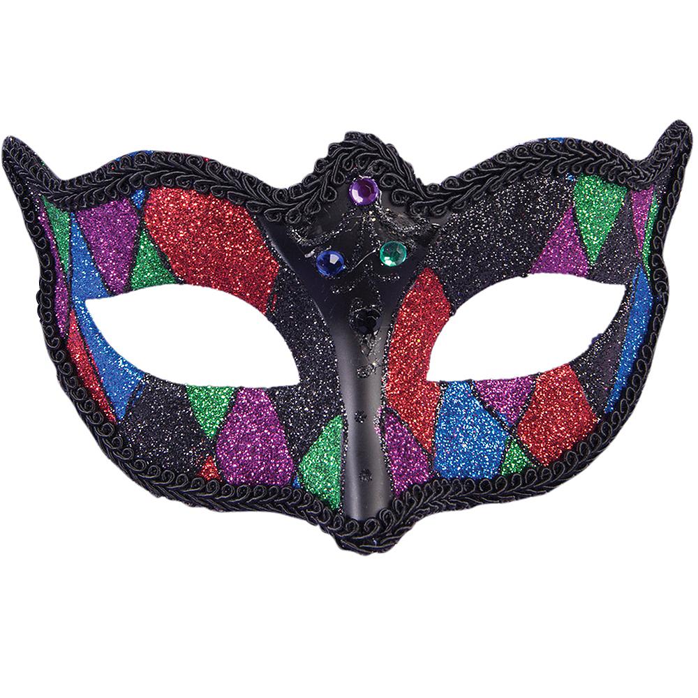 Glitter Colorful Masquerade Mask Image #1