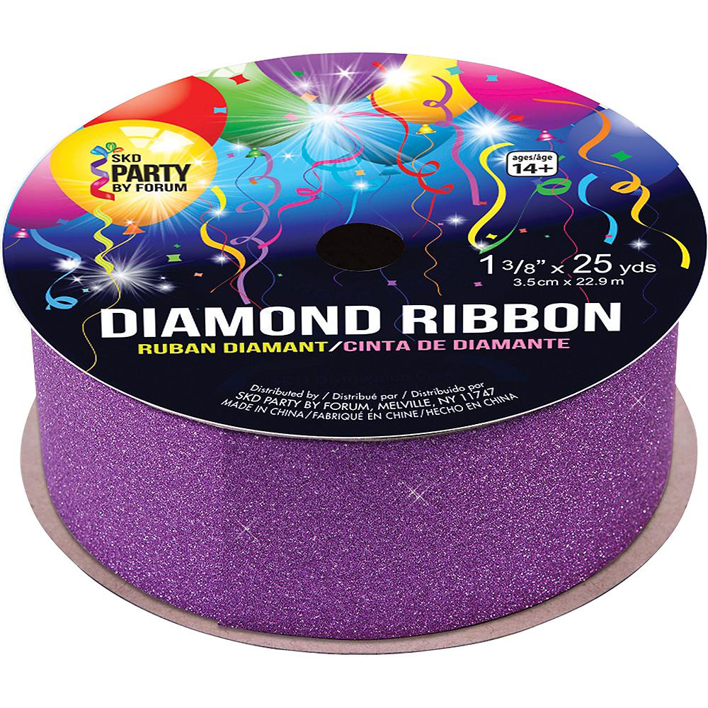 Glitter Purple Ribbon Image #1