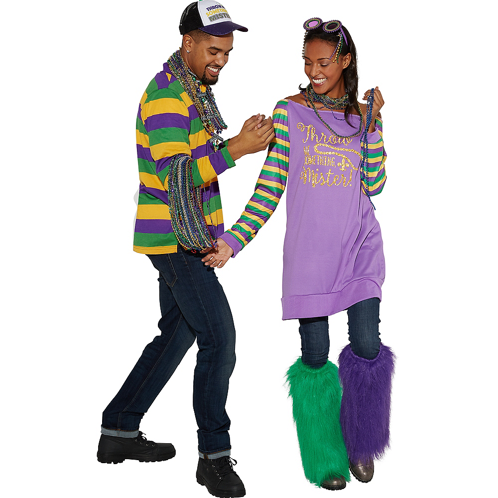 Mardi Gras Off-Shoulder Tunic Image #3