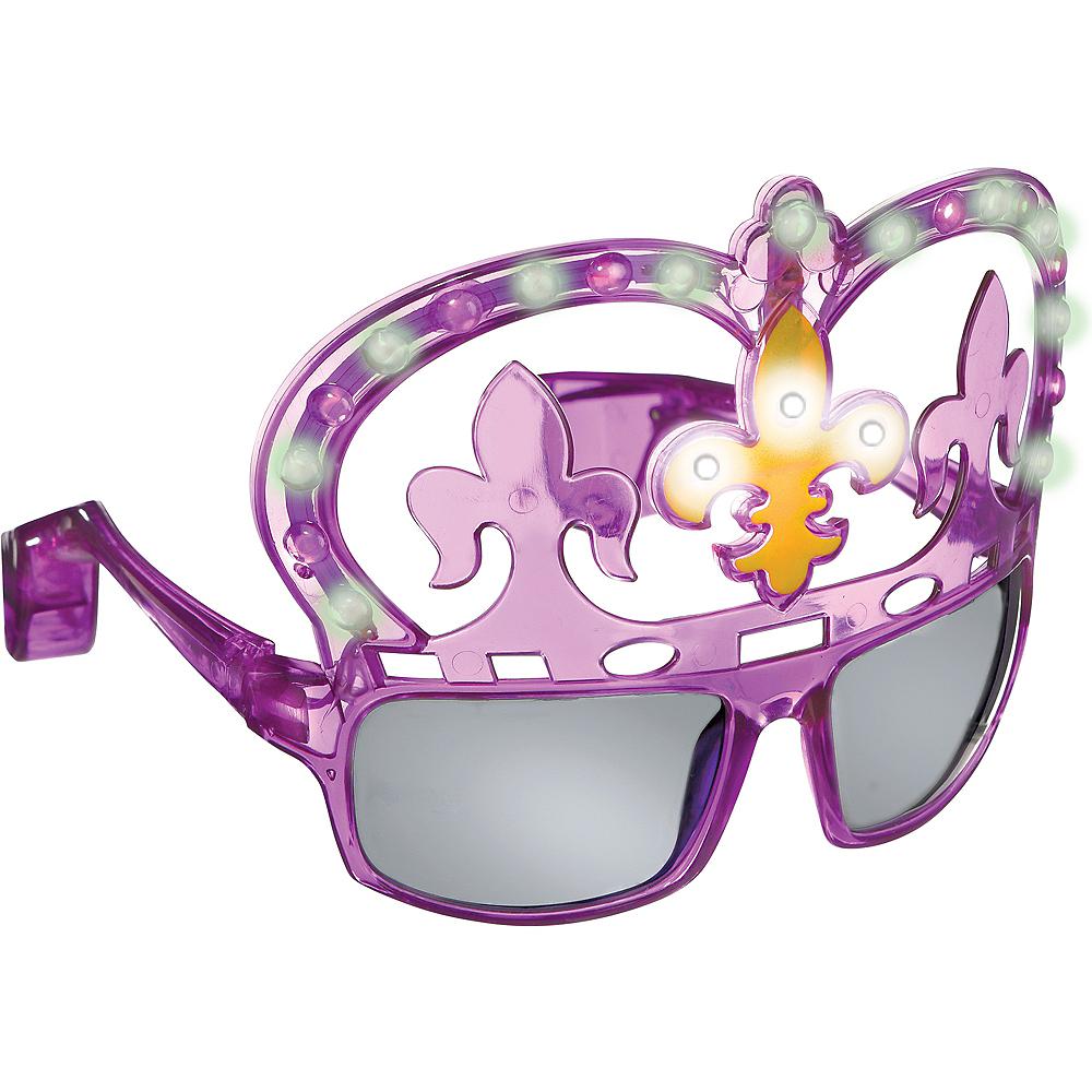 Light-Up Mardi Gras Sunglasses Image #1