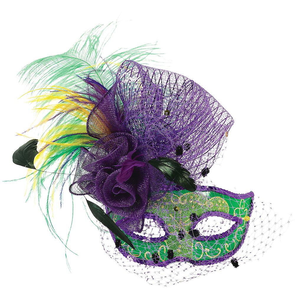 Elegant Mardi Gras Masquerade Mask Image #1