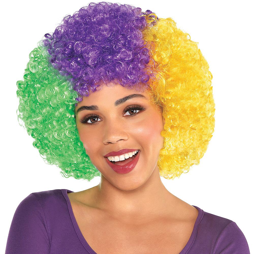 Mardi Gras Afro Wig Image #1