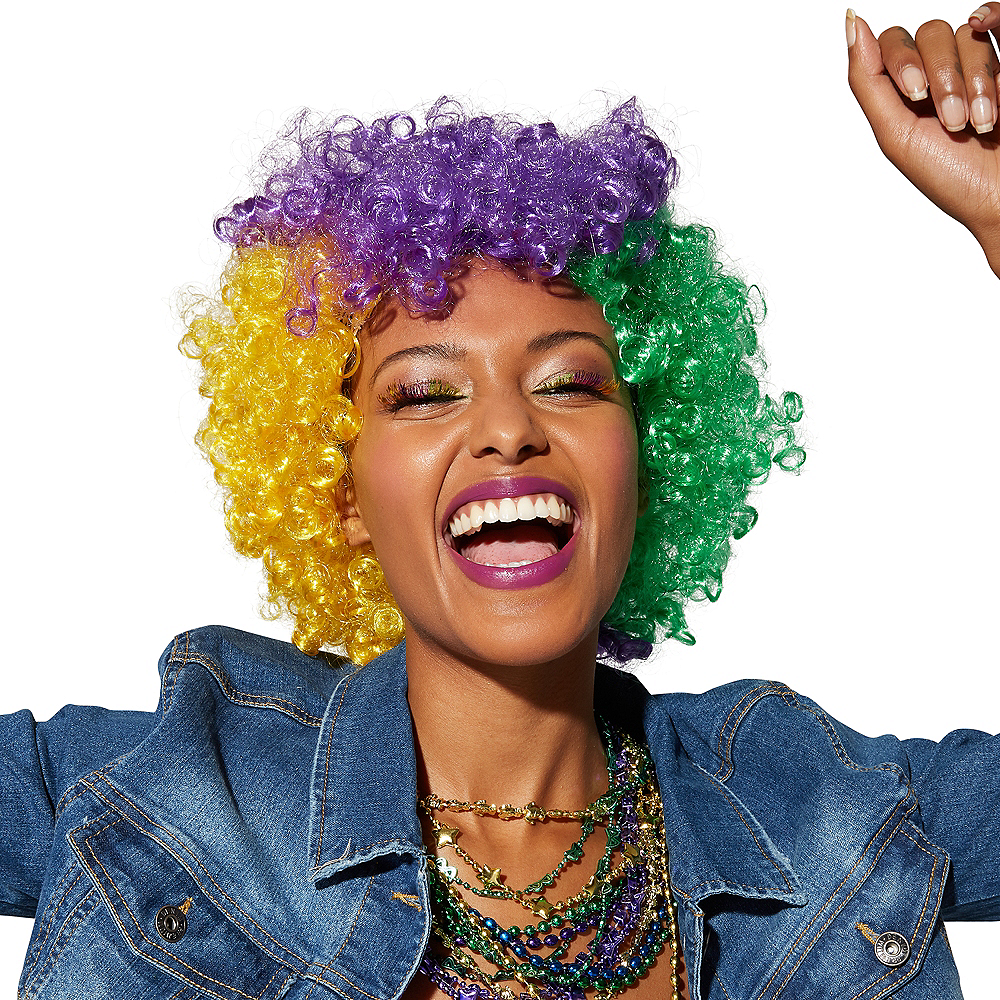 Mardi Gras Afro Wig Party City