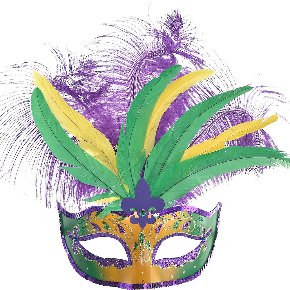Light-Up Mardi Gras Masquerade Mask Image #1