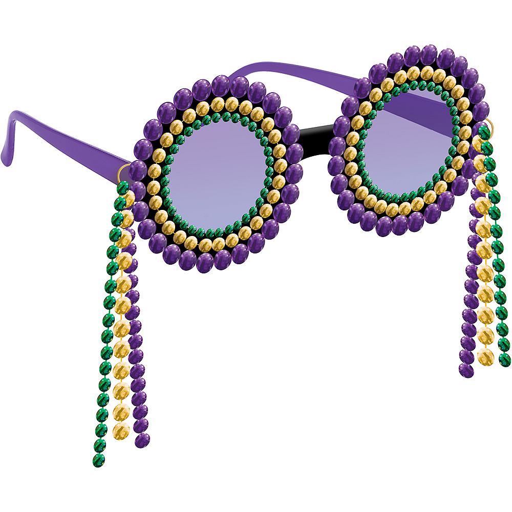 Mardi Gras Bead Sunglasses Image #1