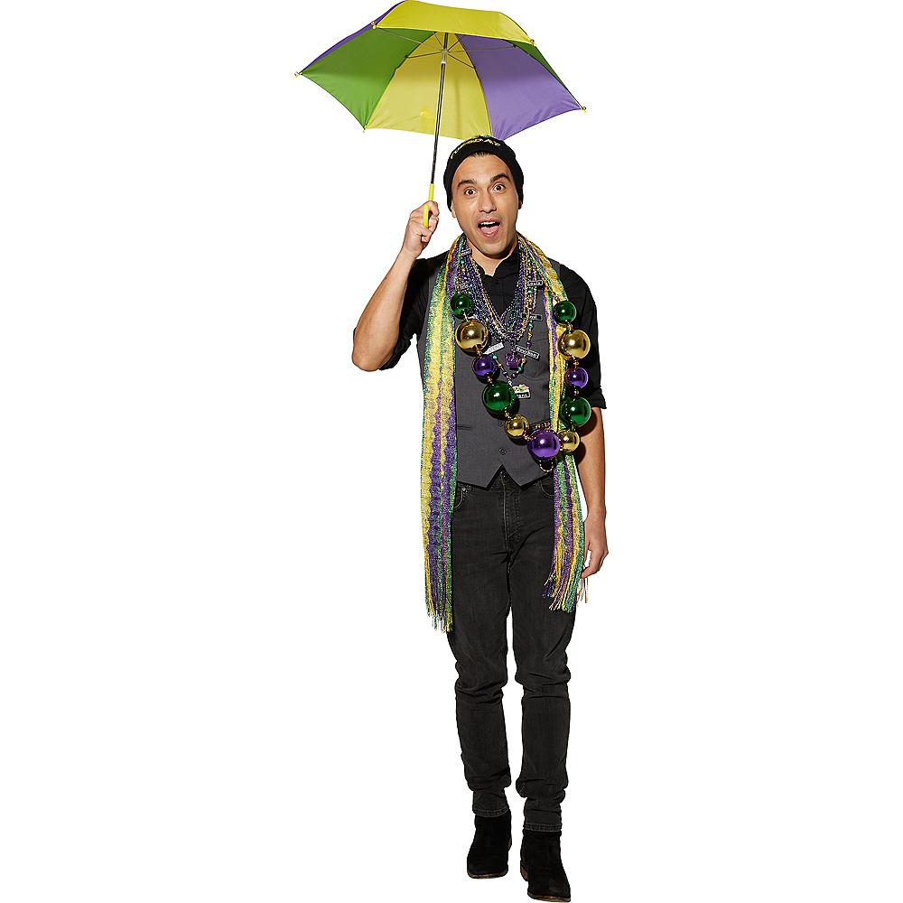 Gold, Green & Purple Mardi Gras Umbrella Image #2