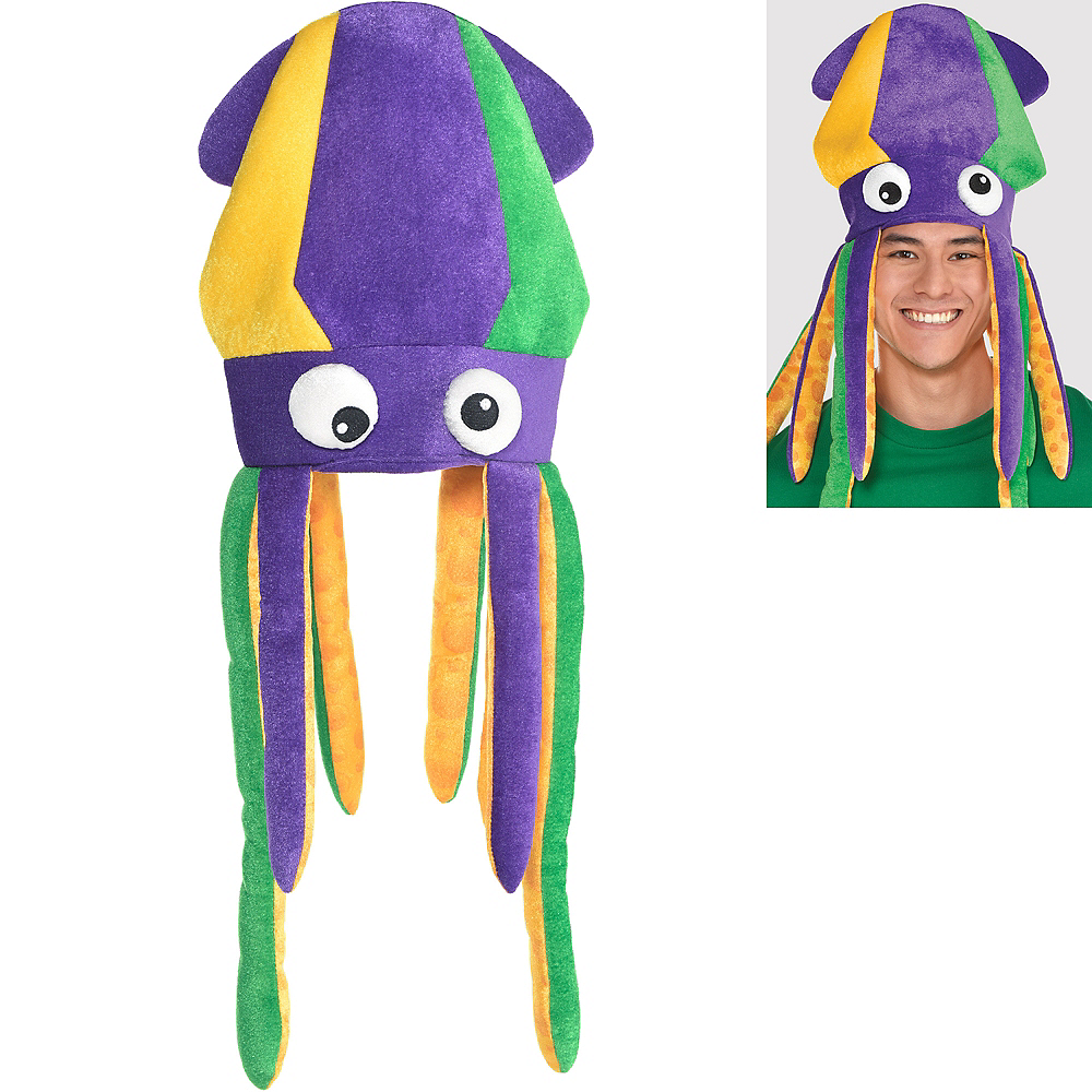 47e5aab1 Mardi Gras Squid Hat 12in x 28in | Party City Canada