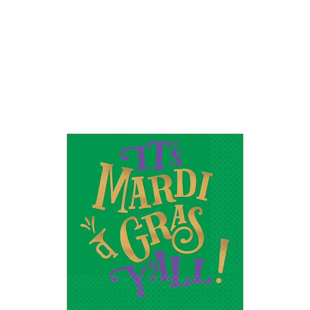 Good Times Mardi Gras Beverage Napkins 16ct Image #1