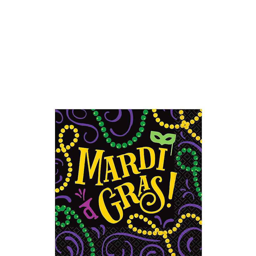 Good Times Mardi Gras Beverage Napkins 125ct Image #1