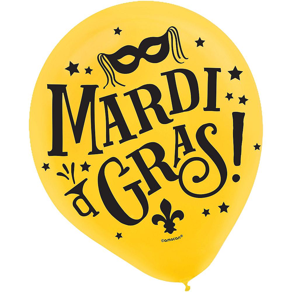 Good Times Mardi Gras Balloons 72ct Image #3