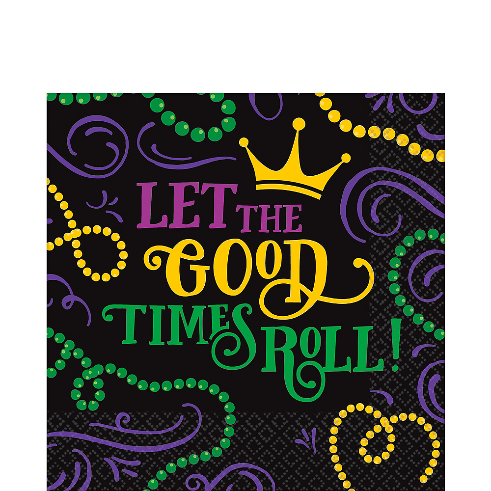 Nav Item for Good Times Mardi Gras Lunch Napkins 125ct Image #1