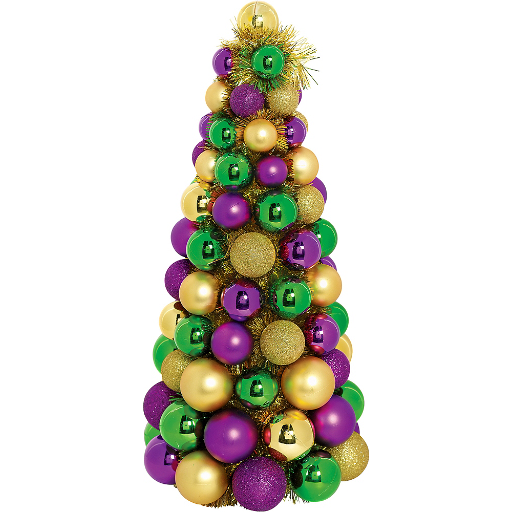 Nav Item for 3D Gold, Green & Purple Ornament Tree Image #1