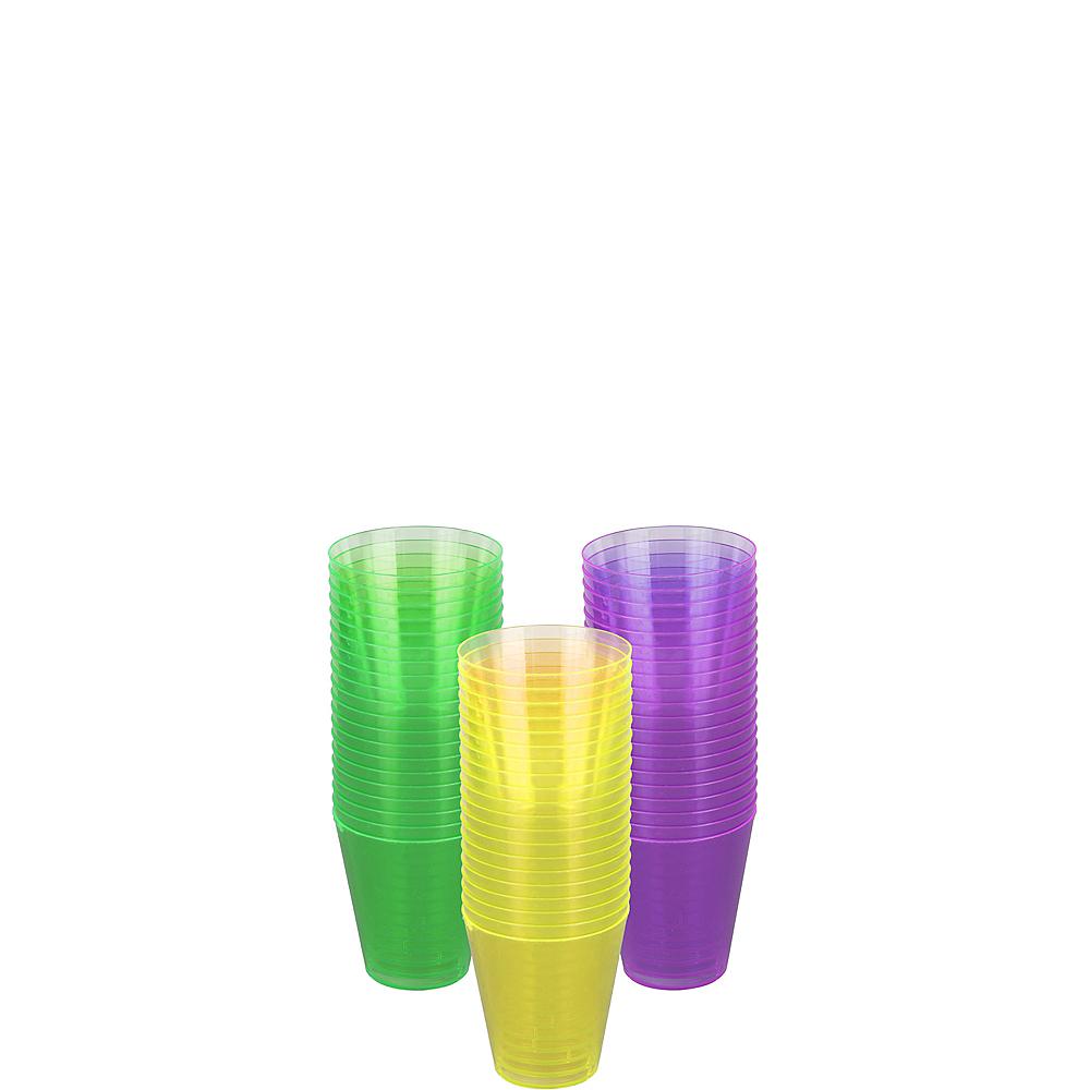 Mardi Gras Plastic Shot Glasses 60ct Image #1
