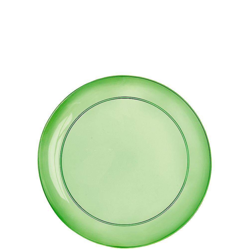 Gold, Green & Purple Dessert Plates 32ct Image #2